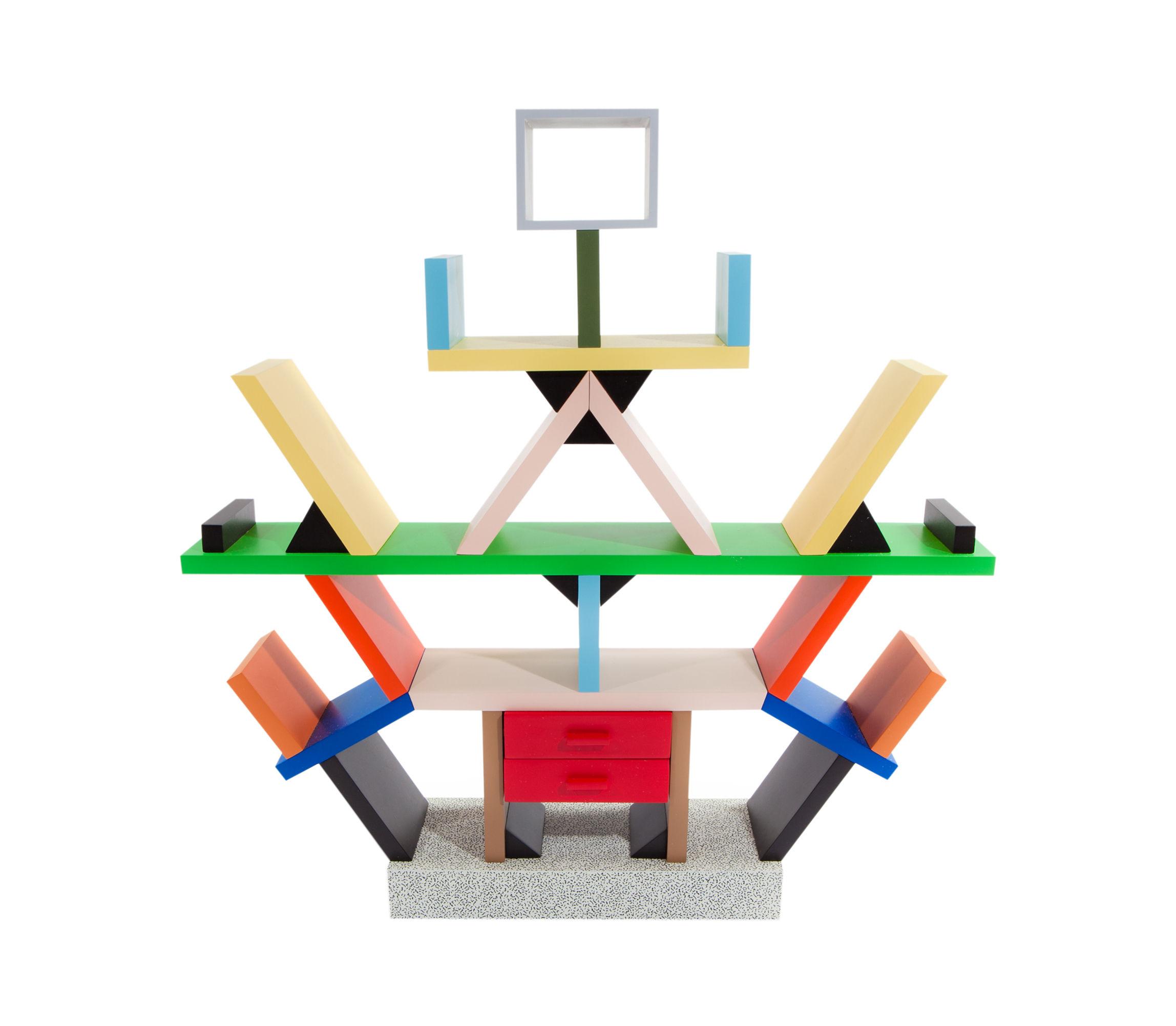 Interni - Oggetti déco - Miniatura Carlton - by Ettore Sottsass / 1981 - Echelle 1:4 di Memphis Milano - Multicolore - Laminato plastico, Legno