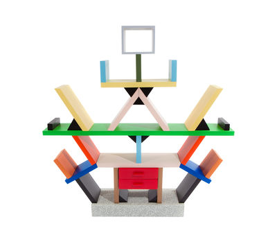 Decoration - Home Accessories - Carlton Miniature by Memphis Milano - Multicolored - Plastic laminate, Wood