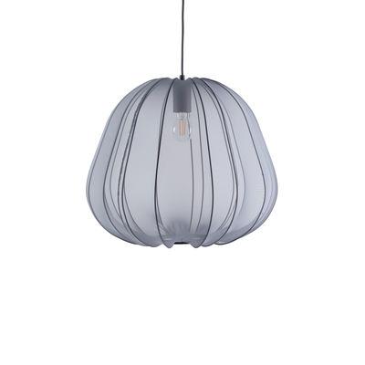 Lighting - Pendant Lighting - Balloon Small Pendant - / Translucent mesh - Ø 47 x H 40 cm by Bolia - Grey - Elasticated fabric, Metal