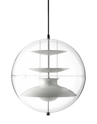 Lighting - Pendant Lighting - Panto Pendant - Ø 40 cm - Panton 1977 by Verpan - Ø 40 cm / Transparent & white reflectors - Acrylic, Painted aluminium