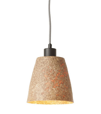 Lighting - Pendant Lighting - Sequoia Pendant - / Wood - Ø 17 cm by GOOD&MOJO - Natural - Recycled chipboard, Steel