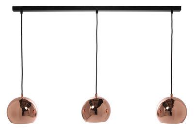 Ball Track Pendelleuchte Mit 3 Lampenschirmen L 100 Cm Kupfer