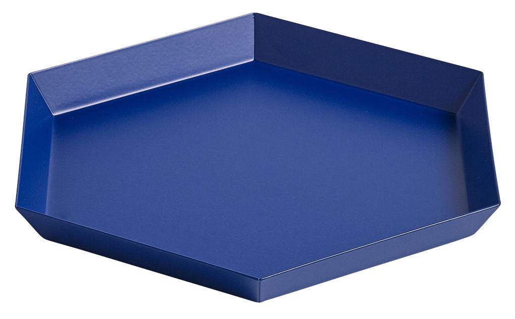 Tavola - Vassoi  - Piano/vassoio Kaleido Small - / 22 x 19 cm di Hay - Blu Royal - Acciaio verniciato