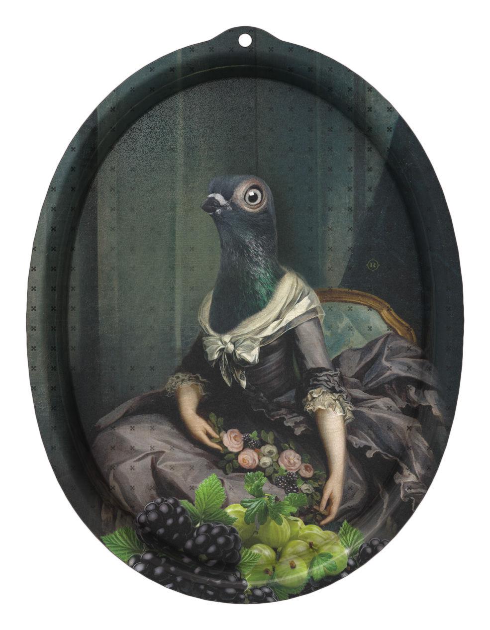 Tavola - Vassoi  - Piano/vassoio Le Boudoir - Isild - Cornice di Ibride - Isild / Toni del grigio-blu - Laminato massello