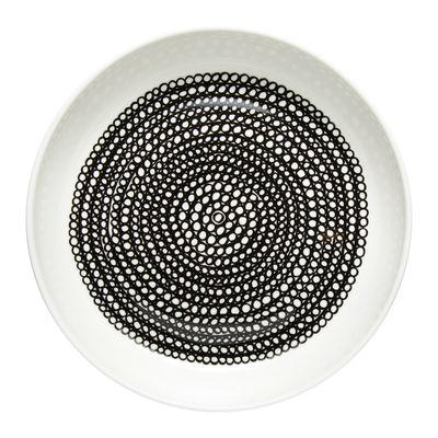 Tavola - Piatti  - Piatto da dessert Räsymatto - / Ø 20 cm di Marimekko - Räsymatto / Bianco e nero - Gres