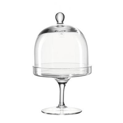 Tavola - Piatti da portata - Piatto - su piedistallo / con coperchio Campana di vetro - Ø 11,5 cm di Leonardo - Trasparente - Vetro