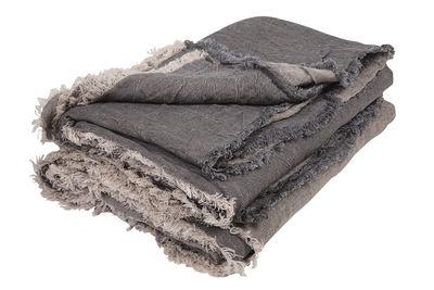 Plaid Vice Versa / 140 x 250 cm - Lin - Maison de Vacances gris ardoise en tissu