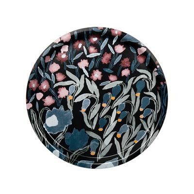 Plateau Louhi / Bois - Ø 31 cm - Marimekko bleu,rouge,noir en bois