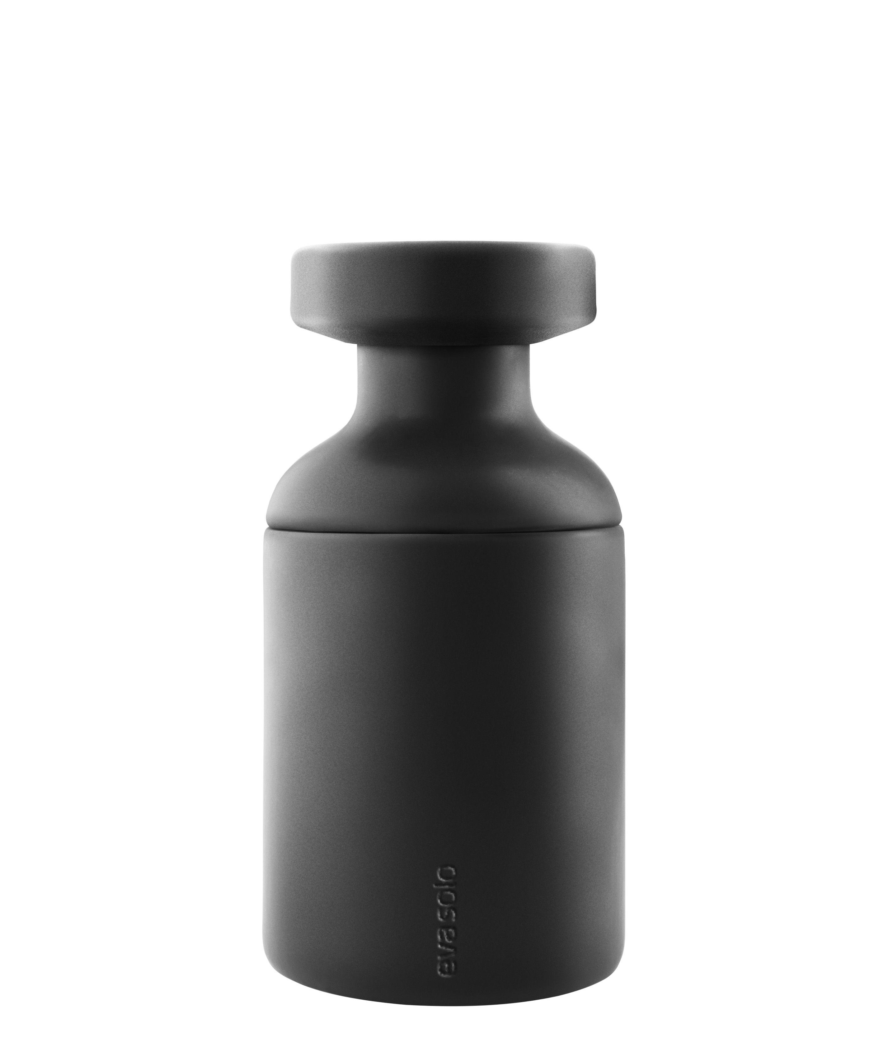 Accessoires - Accessoires salle de bains - Pot pour salle de bain / Avec couvercle - Eva Solo - Noir mat - Céramique