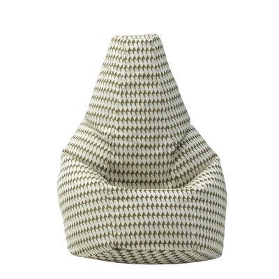 Arredamento - Pouf - Pouf Sacco Tulip - / Modello originale del 1968 - L 80 x H 68 cm di Zanotta - Verde - Cotone, Perle di polistirolo