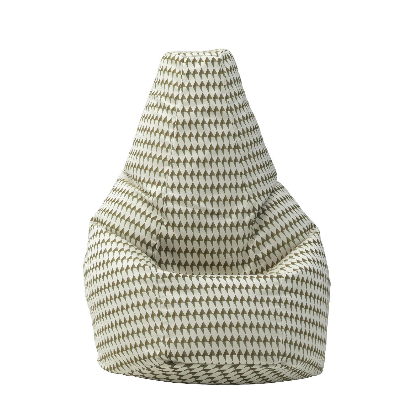 Mobilier - Poufs - Pouf Sacco Tulip / Modèle original de 1968 - L 80 x H 68 cm - Zanotta - Vert - Billes de polystyrène, Coton