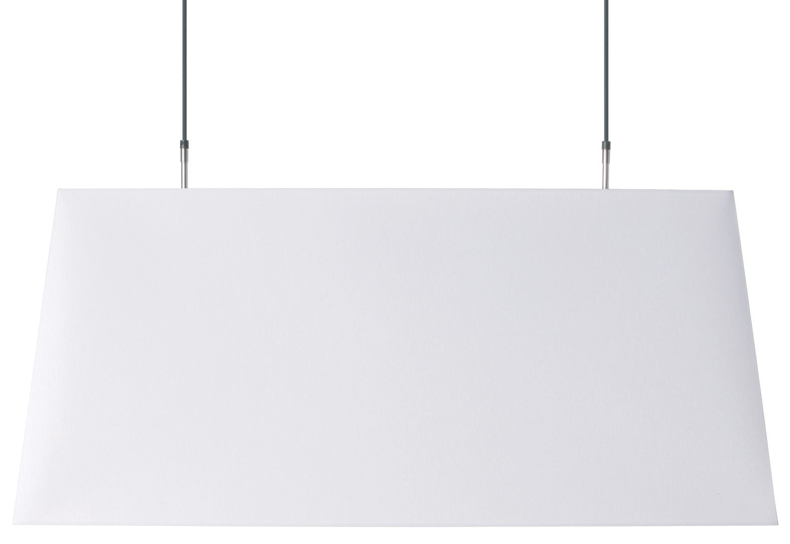 Illuminazione - Lampadari - Sospensione Long light di Moooi - Blanc - Cotone