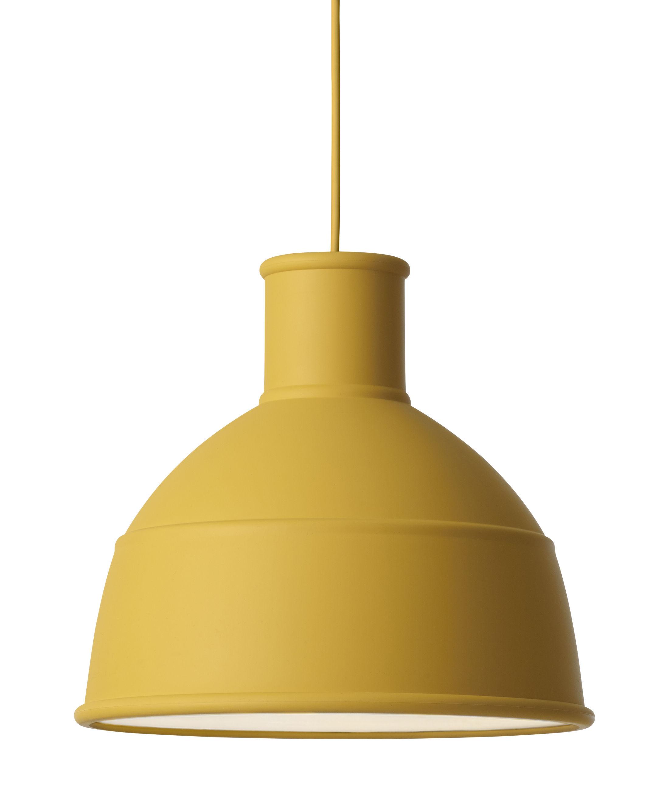 Illuminazione , Lampadari , Sospensione Unfold / in silicone , Muuto , Giallo  senape , Silicone