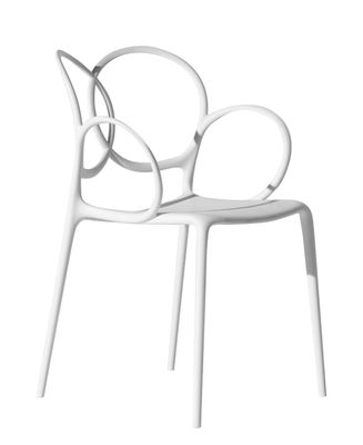 Furniture - Chairs - Sissi Stackable armchair - Outdoor by Driade - White - Fibreglass, Polypropylene, Polythene