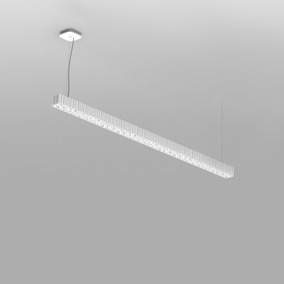 Luminaire - Suspensions - Suspension Calipso Linear stand alone / LED - L 120 cm - Artemide - L 120 cm / Blanc - Technopolymère