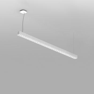 Suspension Calipso Linear stand alone / LED - L 120 cm - Artemide blanc en matière plastique