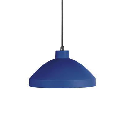 Suspension Pría / Métal - Ø 28,8 cm - OUTDOOR / Câble avec prise (branchement secteur) - EASY LIGHT by Carpyen bleu en métal