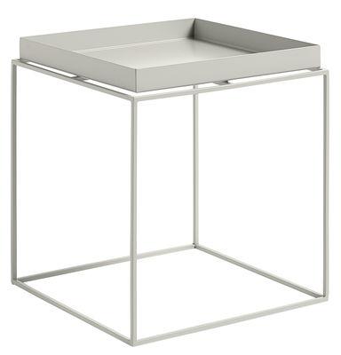 Table basse Tray H 40 cm / 40 x 40 cm - Carré - Hay gris en métal