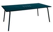 Table rectangulaire Monceau 194 x 94 cm 8 personnes Fermob bleu acapulco en métal
