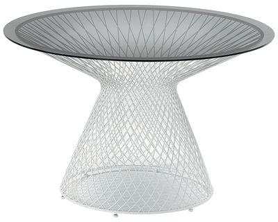 Table ronde Heaven / Ø 110 cm - Emu blanc en métal/verre