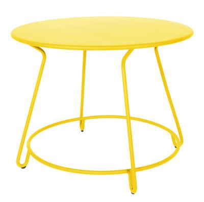 Table ronde Huggy Maiori - Jaune | Made In Design