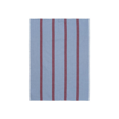 Tableware - Tea Towels & Aprons - Hale Tea towel - / 50 x 70 cm by Ferm Living - Faded blue & burgundy - Cotton, Linen