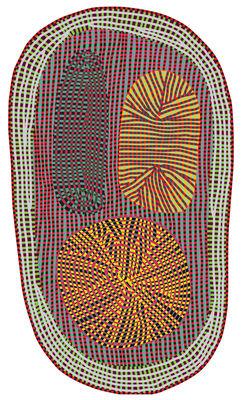 Dekoration - Teppiche - Amoeba Teppich / 393 x 252 cm - Moooi Carpets - Mehrfarbig - Polyamid