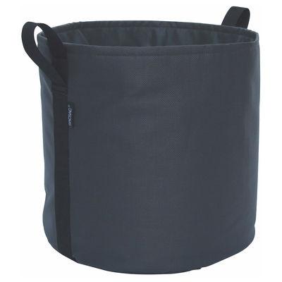 Outdoor - Vasi e Piante - Vaso per fiori Batyline® - / Outdoor - 50 L di Bacsac - Nero asfalto - Tela Batyline®