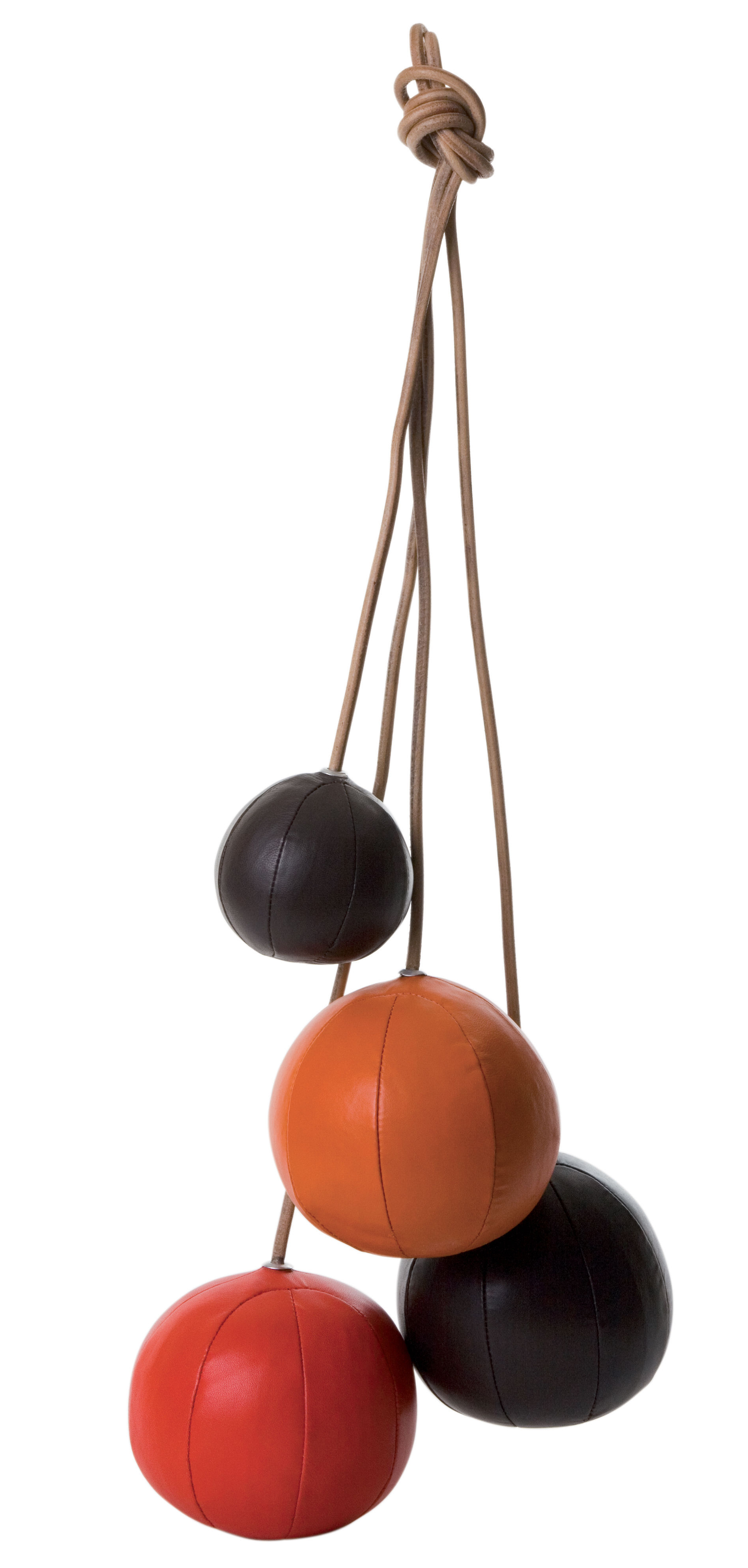 Furniture - Teen furniture - Clothes Rack Coat stand - 3 colours by ENOstudio - Chocolate / red / orange - Leather