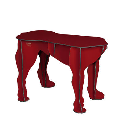 Banc Rex / Table basse - 80 x 30 cm - Ibride rouge en matière plastique