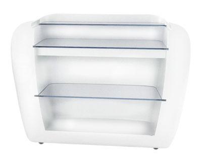 Arredamento - Tavoli alti - Bancone luminoso Roller di Slide - Bianco - esterno - Polietilene riciclabile, Vetro