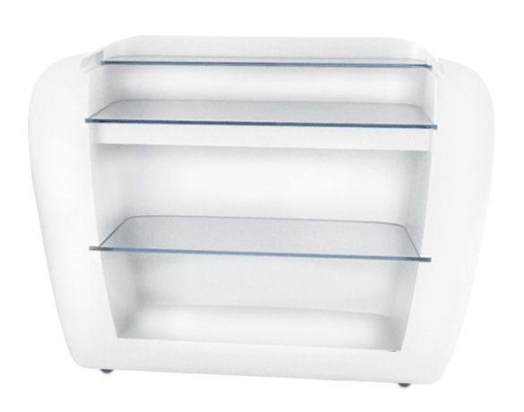 Arredamento - Tavoli alti - Bancone luminoso Roller di Slide - Bianco - esterno - Polietilene, Vetro