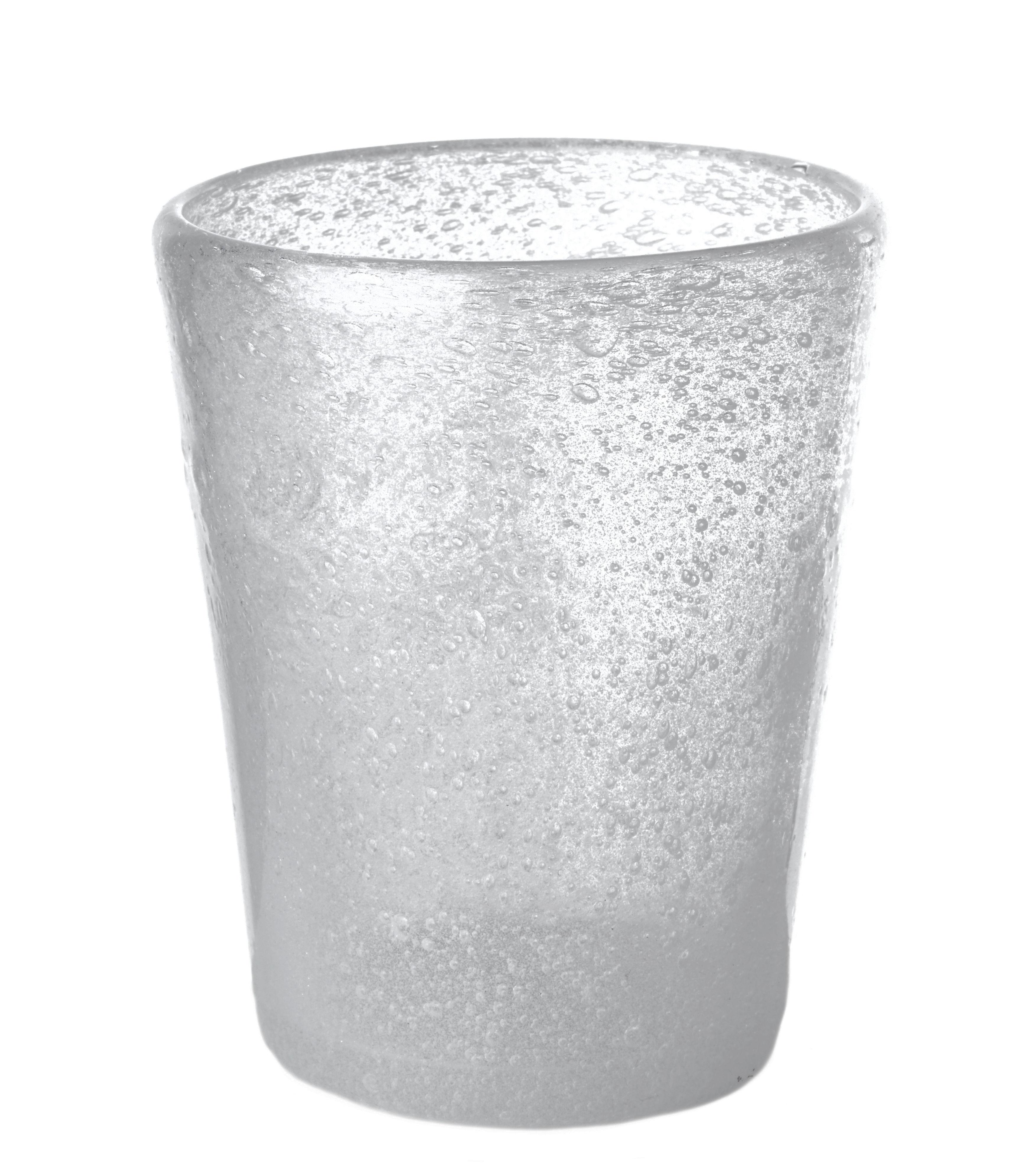 Tavola - Bicchieri  - Bicchiere He di Pols Potten - Bolla bianca - Vetro a bollicine colorato in massa