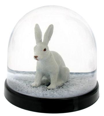Boule à neige / Lapin - & klevering blanc en matière plastique