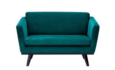 Canapé droit / L 120 cm - Velours - RED Edition noir,bleu canard en tissu