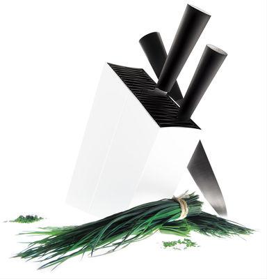Cucina - Coltelli da cucina - Ceppo coltelli - inclinato di Eva Solo - Bianco - Alluminio, Polipropilene