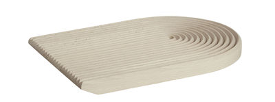 Kitchenware - Kitchen Equipment - Field Chopping board - / Round - 33 x 25 cm by Hay - Beech - Natural beechwood