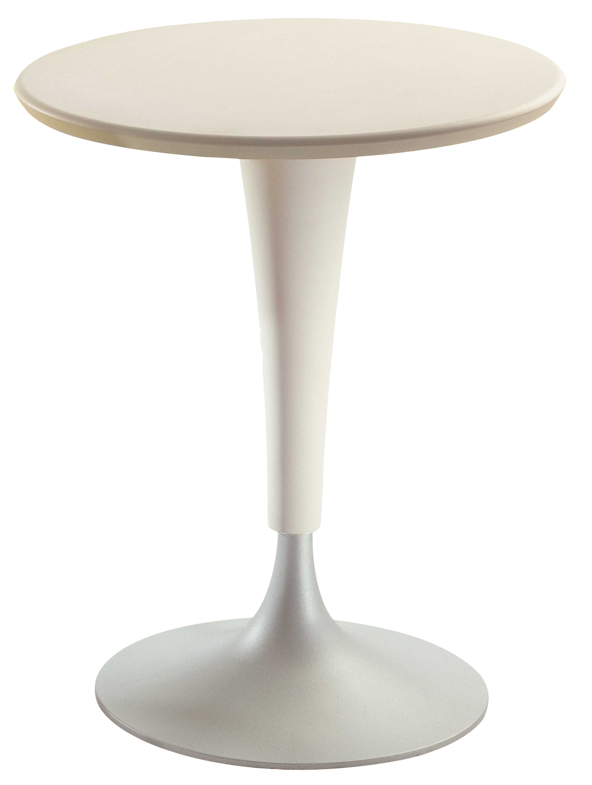 Table ronde Dr. Na Kartell - Blanc jaune clair - h 73 x Ø 60 | Made ...