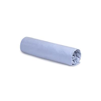 Drap-housse 90 x 190 cm / Percale lavée - Au Printemps Paris bleu en tissu