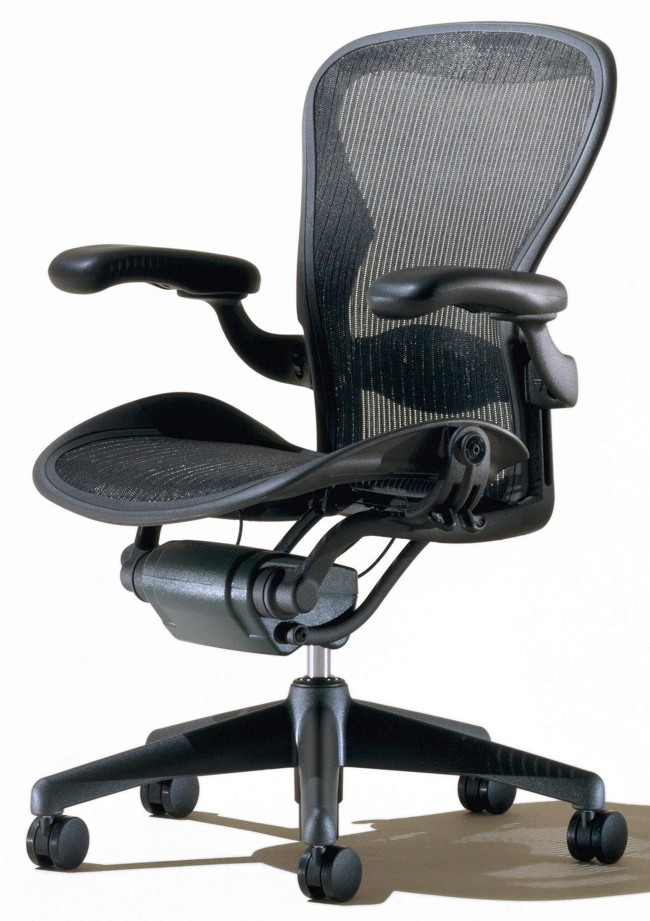 fauteuil roulettes aeron assise souple graphite noir herman miller made in design. Black Bedroom Furniture Sets. Home Design Ideas