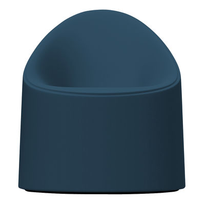 Chaise Bay / Intérieur- Extérieur - Serralunga bleu canard en matière plastique