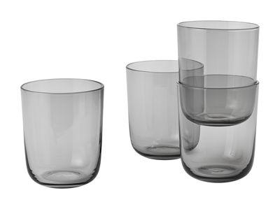 Tableware - Wine Glasses & Glassware - Corky Glass - H 10 cm / Set of 4 by Muuto - Smoked grey - Glass