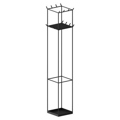 Möbel - Garderoben und Kleiderhaken - Slim Irony Kleiderständer mit Fuß / 34 x 34 cm x H 169 cm - Mit Regal - Zeus - Kupfrig-schwarz - Stahl
