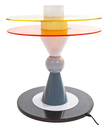 Illuminazione - Lampade da tavolo - Lampada da tavolo Bay - by Ettore Sottsass / 1983 di Memphis Milano - Multicolore - Metallo, Plexiglas, Vetro