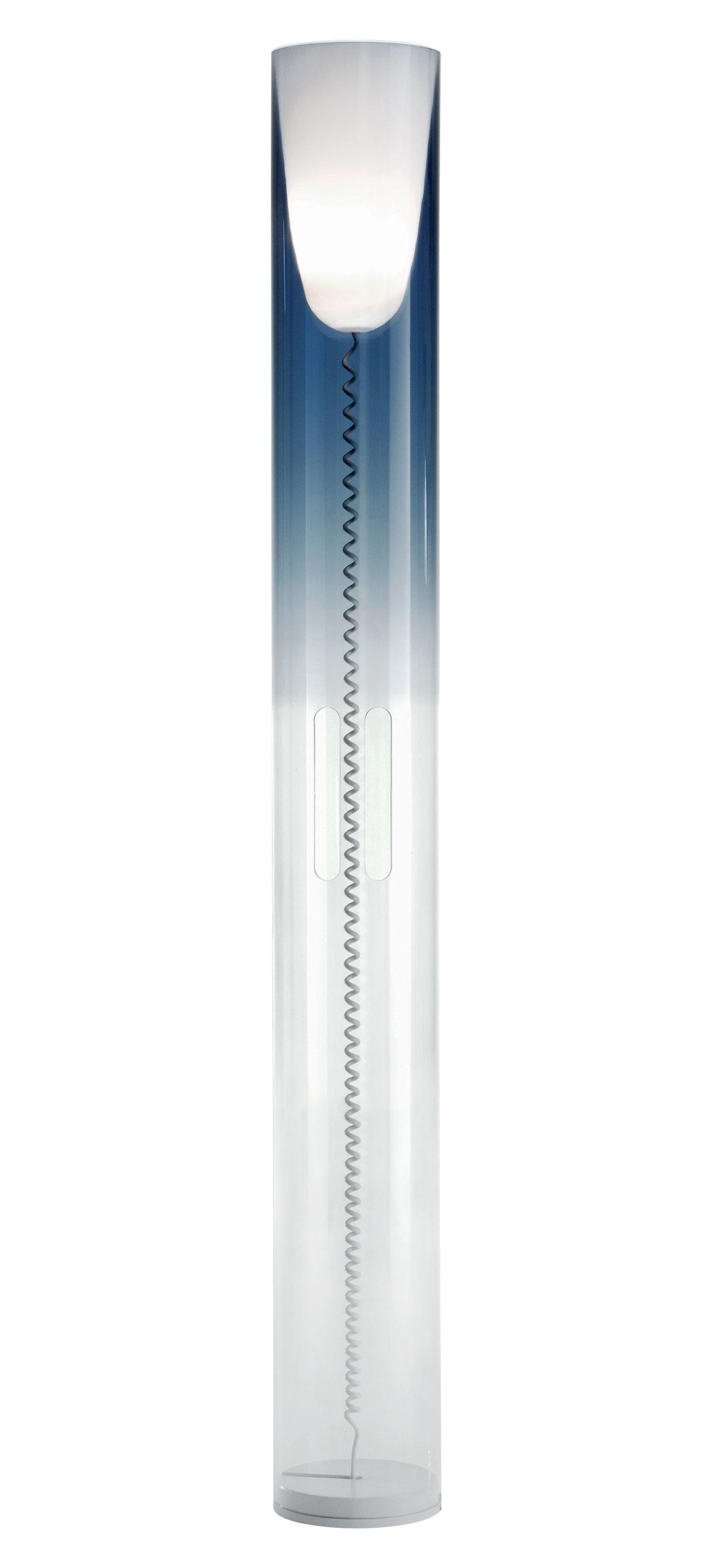 Luminaire - Lampadaires - Lampadaire Toobe - Kartell - Bleu ciel - PMMA, Polycarbonate