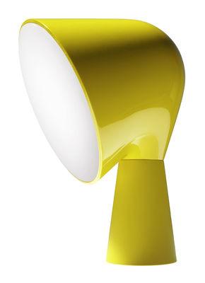 Lampe de table Binic - Foscarini jaune en matière plastique
