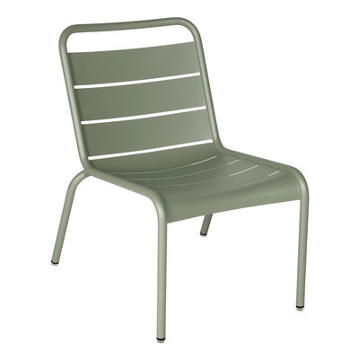 Furniture - Armchairs - Luxembourg Lounge chair - / Low seat by Fermob - Cactus - Aluminium