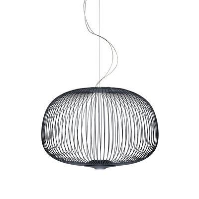Lighting - Pendant Lighting - Spokes 3 My Light Pendant - / LED - Bluetooth / Ø 61 x H 42 cm by Foscarini - Graphite - Varnished aluminium, Varnished steel