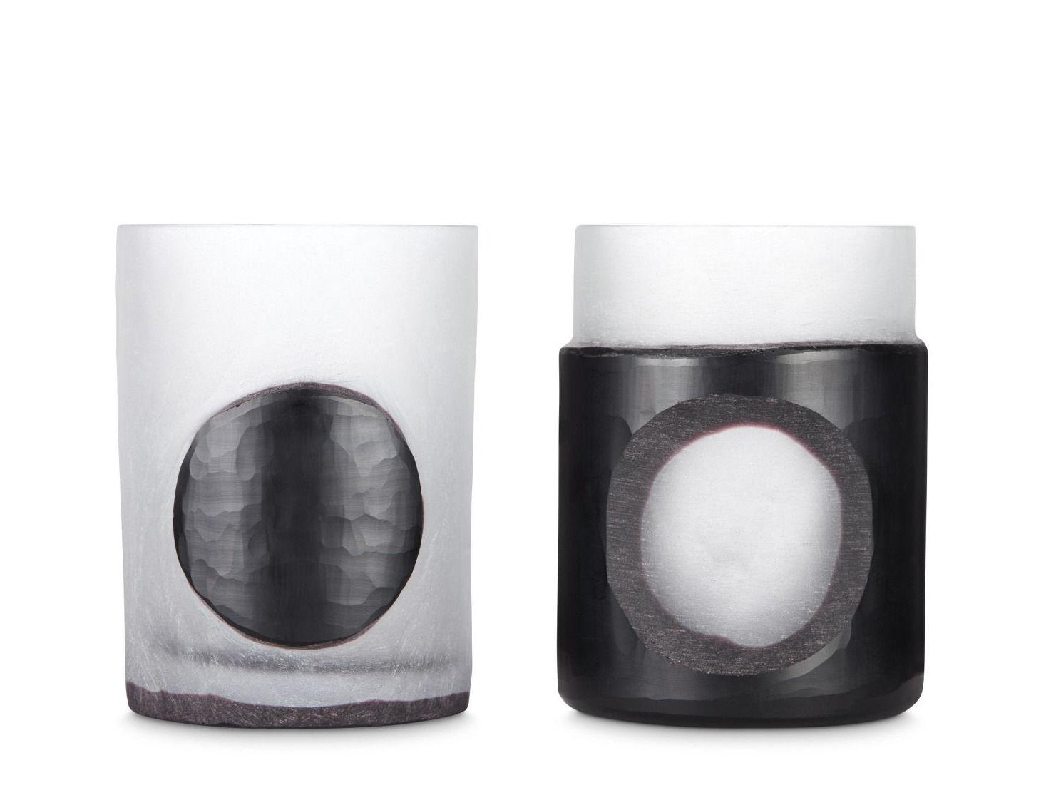 Déco - Bougeoirs, photophores - Photophore Carved Small / Set de 2 - Tom Dixon - Noir - Verre soufflé bouche