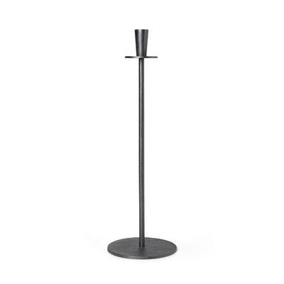 Interni - Candele, Portacandele, Lampade - Portacandela Hoy - / H 55 cm - Fusione di alluminio di Ferm Living - Nero - Fonte d'aluminium recyclée
